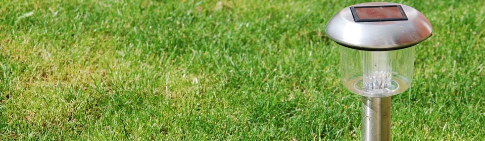 tuinverlichting op gras
